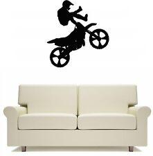Motocross Motor Bike Stunt Wall Art Sticker Free Postage code 15