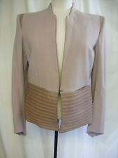 "Donna Helmut LANG Giacca in pelle MARRONE con Pannello, Busto 36"", Smart insolito 1683"