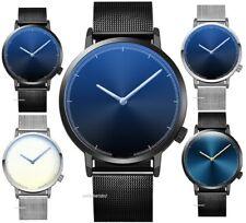 Fashion Classic Mesh Strap Quartz Stainless Steel Analog Wrist Watch Unisex