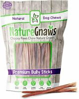 Extra Thin Bully Sticks for Dogs Beef Bones - Long Lasting Dog Chew Treats 10Ct