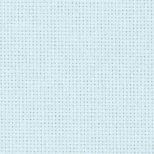 14 Count Zweigart Aida CROSS STITCH Fabric 49 x 54 Cms Blu Ghiaccio