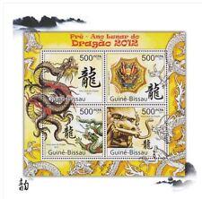 Guinea-Bissau Dragon Stamp 2012 (UNC) 全新 2012年 几内亚比绍 龙年邮票 小全张