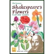 Shakespeare's Flores Conjunto De 52 Jugar Tarjetas + Bromistas ( Gib )