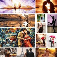 DIY Beauty Paint By Number Kit Digital Oil Painting Art Home Decor Couple LOVE
