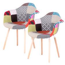 2X Patchwork Eiffel Comedor Sillon silla de estilo vintage y retro Estilo Rojo