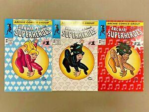 3x ARCHIE & FRIENDS SUPERHEROES DAN PARENT VARIANTS SET ASM HOMAGE LTD 300*