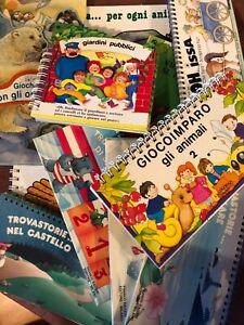 Lotto 11 libri bambini La Coccinella Edibimbi Raiteri anni 80 90 librogioco