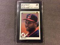 GRADED Albert Belle ROOKIE 1990 Upper Deck Baseball Card #446 SGC 88 INDIANS RC