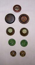9- ANTIQUE CELLULOID BUTTONS-PURSE-CRAFT-ART-DESIGN-SEW