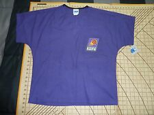 ADULT SMALL PURPLE NBA PHOENIX SUNS SCRUBS TOP - NWT