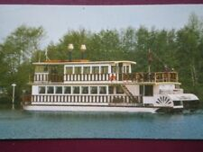 POSTCARD NORFOLK THE SOUTHERN COMFORT PADDLE BOAT LEAVING HORNING
