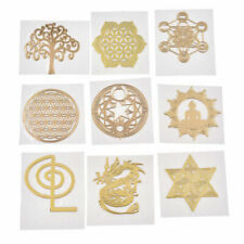 20mm 5x Geometry Orgonite Energy Tower Copper Mobile Phone Laptop Sticker Craft