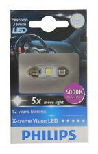 1 X PHILIPS X-TREME VISION LED 128596000KX1 Festoon 38mm 6000k