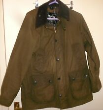 Mens Barbour classic Bedale Brown Collared Wax Jacket coat S/M  38-40 chest