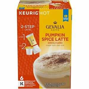 Gevalia Pumpkin Spice Latte Espresso K-cup 6 count