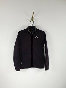J.Lindeberg Track Jacket Golf Full Zip Black Women Size: L