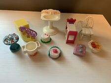 10 Variety Lot of Plastic Doll House Furniture And Other Accessories Pieces