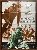 Plakat Coups De Feu Dans La Sierra Sam Peckinpah Randolph Scott 120x160cm