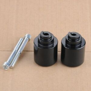 WOO Black Handle Bar Ends Weight Grip Cap For Honda CBR 954 929 RR VFR800 GL1800