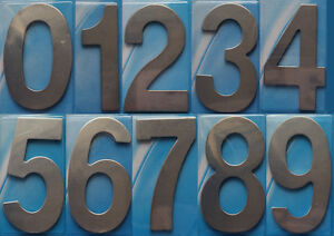 Stainless Steel House Numbers Hotel House Door No 0-9 Stick on Self Adhesive UK