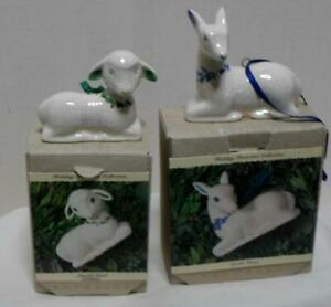 hallmark showcase holiday collections joyful lamb and gentle fawn set of 2 new