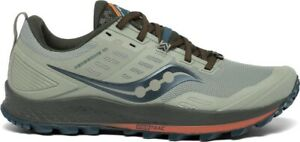 Saucony Peregrine 10 Mens Trail Running Shoes - Green