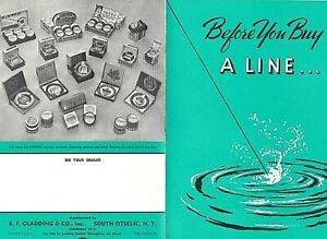 RARE 1943 BEFORE YOU BUY A LINE BF GLADDING BROCHURE RETRO ILLUSTRATIONS SCARCE