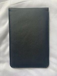 Golf Scorecard Holder - PU Black Leather! Length-ways Flip! NEW! UK Seller!