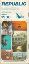 Republic Airlines system timetable 4/27/80 [308Rc] Buy 2 Get 1 Free
