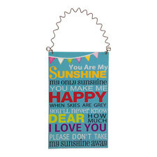 You Are My Sunshine Small Plaque – Children Sign Wooden Picture Hanging Blue