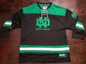 Vintage North Dakota Fighting Sioux Hockey Jersey NCAA Mens Size XXL RARE VTG