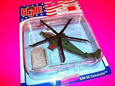 GI JOE Die Cast Metal Replica RAH-66 COMANCHE U.S. ARMY Helicopter w Dog Tag