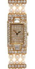 Rare 18K Yellow Gold Boucheron Pearl & Diamond Watch 3.80 Cts.