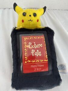 "1998 PIKACHU Pokemon Picture Pals 8"" Plush & Beanie Photo 2"" x 3"" Frame"