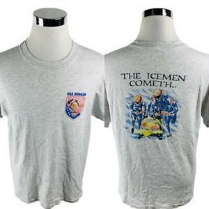 Vintage Andazia International USA Bobsled The Icemen Cometh T-Shirt Mens L