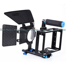 DSLR Camera DV Video Cage+Matte Box 15mm Rod Support for Canon 5D mark II 7D 60D