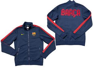Nike FC Barcelona Jacket Mens Small Full Zip Jacket Futbol Soccer Messi BARCA