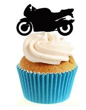 Novelty Motorbike ANY COLOUR 12 Edible Stand Up wafer paper cake toppers