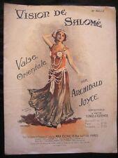 Partition Vision de Salomé Valse orientale danseuse danse Kent A Joyce