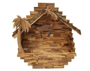 Bethlehem Olive Wood Nativity Set Stable only
