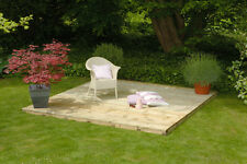3m x 3m Timber Decking Kit Garden With Fittings Pack Base Without Rails