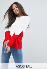 ASOS TALL CHUNKY JUMPER WITH CHEVRON UK 8
