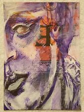 ACEO kimartist ANCIENT HISTORY original art face greek man portrait statue sfa