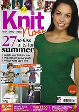 Knit Now magazine Summer projects Angora shrug Lightweight waterfall cardigan