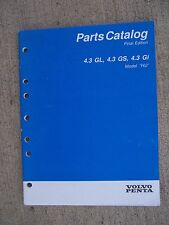 "1995 Volvo Penta Model ""HU"" 4.3GL 4.3GS 4.3Gi  Boat Engine Parts Catalog  U"