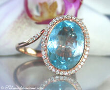 Attraktives Unikat: Edler Blautopas Ring mit Brillanten, 7,84 ct. RG-750 2.150€