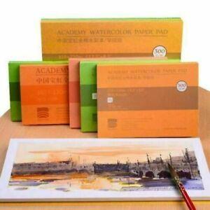 Watercolour Paper Sheets 100% Cotton Artists Pad Cold W Hot Press O2T1