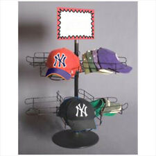 Couter Top Revolving Wire Cap Display Rack Stand - Black Millinery Display Stand