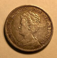NETHERLANDS - Queen Wihelmina - One Silver Gulden - 1913 - Extra Fine