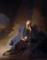 Rembrandt, Jeremiah Lamenting the Destruction of Jerusalem, 1630, Canvas Print